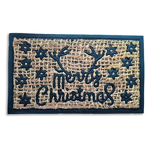 Feliz Navidad antideslizante suciedad trapper felpudo – Decoración para interiores y exteriores – El espíritu de Navidad