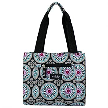Nicole Miller of New York Insulated Lunch Cooler 11 Lunch Tote  Kaleidoscope Black