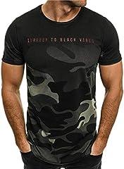 Camiseta de Camuflaje Hombre Militares Camisetas Deporte Ropa Deportiva