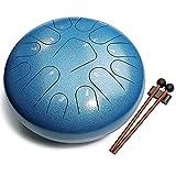 Lronbird Steel Tongue Drum kit , 13-Notes- 12 Inch C-Key Musical Drums Set - Handpan Percussion instruments for Kids,adults,Beginner,zen,healing,Meditation(Sea blue)
