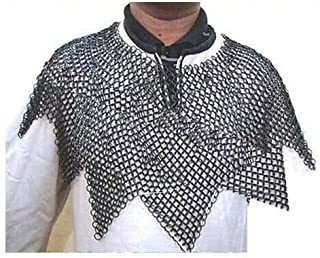 SAI Musicals Medieval Chainmail Aventail, Chainmail Aventail, LARP Renactment Armor Costume