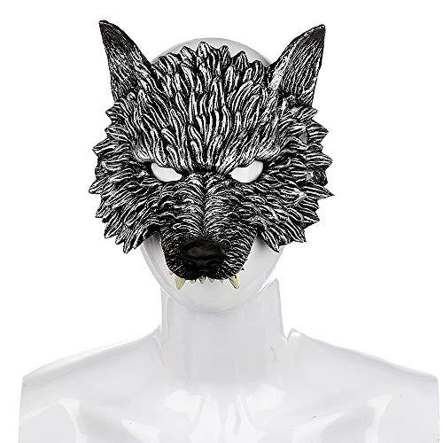 Sxgyubt Masker Festival Party Zachte PU Schuim Levensechte Wolf Masker Weerwolf Masker Rol Spelen Plezier Halloween Party Decoratie
