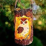 JJGoo Outdoor Solar Lantern Decor Garden Lights, Owl Decorative Hanging Lamp, Waterproof Solar Powered Outdoor Hanging Lights for Garden Patio Yard Landscape Tree Decor ( Brown Owl)