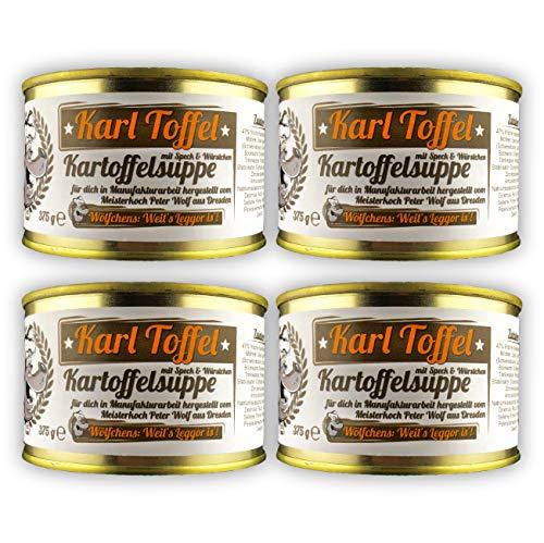 Wölfchens Gourmet Karl Toffel Kartoffelsuppe Vorratsset in der Dose (4 x 375 g)
