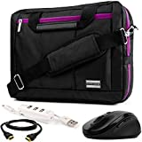 Purple Convertible Laptop Bag Mouse USB Hub HDMI Cable for Asus ROG AsusPro Transformer VivoBook ZenBook 14' to 15.6