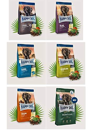 6 x 300g Interquell HAPPY DOG Supreme Sensible Irland, Karibik, Neuseeland, Canada, Montana und Toscana