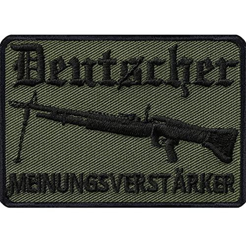 Parche del ejército alemán con diseño de amplificación de opinión alemana, parche para armas militares, regalo DIY para chaqueta/chaleco/jeans/uniforme 70 x 50 mm