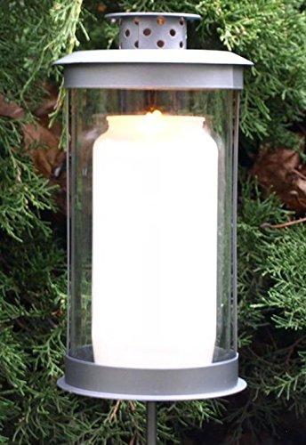 Trauer-Shop Grablaterne auf Stecker mit ca. 105 Stunden Grablicht Öllicht. Höhe 19cm