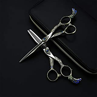 Retro Barber Scissors Barber Salon Scissors Professional Hairdressing Scissors Hair Scissors Set,ToothCut6Inch