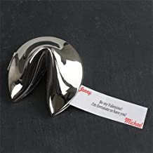 GiftsForYouNow Personalized Message Silver Fortune Cookie, 3