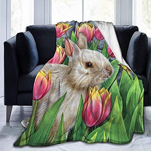 wobuzhidaoshamingzi deken van molton, bijzonder zacht, jongleer- en konijntje