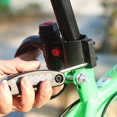 DAWAY Multitool Fahrrad Reparatur Set – B32 Fahrrad Werkzeug Reparaturset, 16 in 1 Multifunktionswerkzeug, Reifenheber, Selbstklebendes Fahrradflicken Inbegriffen, 6 Monate Garantie - 4