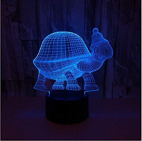 Neuheit Geschenk Usb 7 Farben Ändern Niedliche Schildkröte Modell Led Nachtlicht 3D Tisch Schreibtisch Touch Lampe Kinder Geschenk