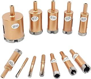 Set of 12 Hole Saw Diamond Drill Tile Drill Set of Glass Drill Bits 6mm-50mm Drill Tolls