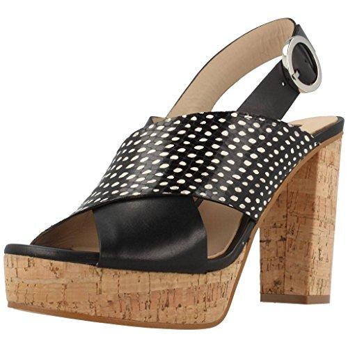Zinda Damen Sandalen Sandaletten 2085 Schwarz 36 EU