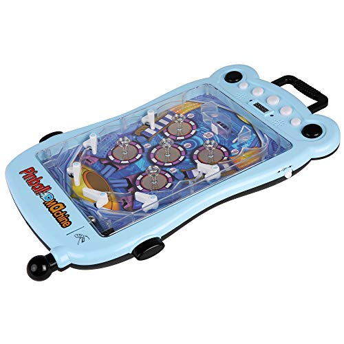 COLOR TREE Pinball Machine for Kids and Family - Portable Tabletop Game Toys with Scorer and Lights and Sounds, Parent-Child Interactive Game Pinball Toy, Blue