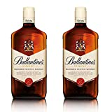 Ballantines Finest Blended Scotch - Juego de Whisky (2 Unidades, Alcohol, 40%, 2 x 1 L)