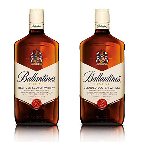 Ballantines Finest Blended Scotch - Juego de Whisky (2 Unidades, Alcohol, 40%, 2 x 1 L)