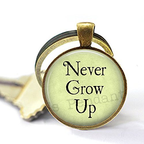 nijiahx Never Grow Up – Tinkerbell Charm Schlüsselanhänger – Peter Pan Schlüsselanhänger – Neverland Jewellery