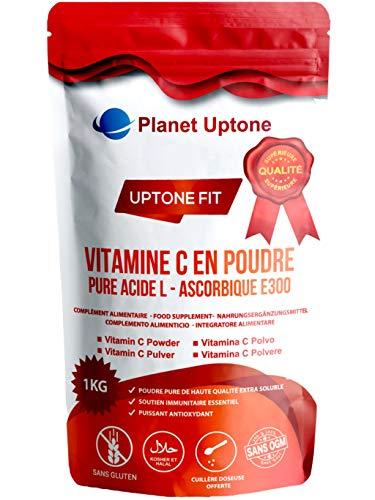 High Strength Vitamin C Powder 1Kg, 100% Pure L Ascorbic Acid, Halal/Kosher, Vegan/Vegetarian, No additives/Non-GMO/Gluten Free, Spoon 1000mg Included