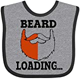 Inktastic Red Beard is Loading Baby Bib Heather and Black 288e4