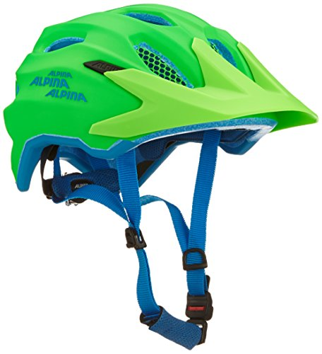ALPINA CARAPAX JR. Fahrradhelm, Kinder, green blue, 51-56