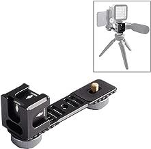DFGFDGCXDF Camera Accessories 4-Head Cold Hot Shoe Mount Adapter Microphone Flash Light Aluminum Alloy Extension Bracket for DJI OSMO Mobile Zhiyun Smooth Feiyu Vimble Gimbal Stabilizer