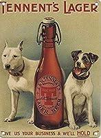 金属看板Tennentのラガー-壁の装飾のための2匹の犬のアルミニウムティンサイン
