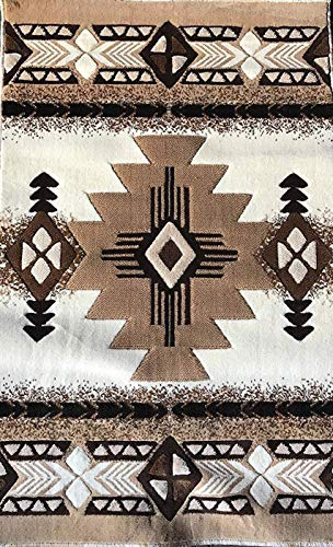 Concord Global Trading Southwest Native American Door Mat Area Rug Ivory Design#C318 (2ft.x3ft.4in.)