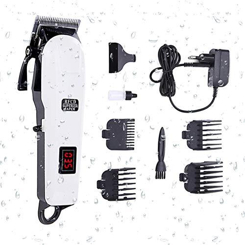 Professionnelle Tondeuse Cheveux, Toilettage Kit Haircut Kit, Lame en Acier Inoxydable Tête, USB Rapide De Charge, Écran LCD, Expérience Ultime De Coupe De Cheveux par
