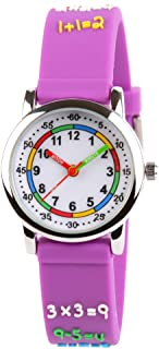 Venhoo Kids Watches 3D Cute Cartoon Waterproof Silicone Children Toddler Wrist Watch for 3-10 Year Boys Girls Little Child (Metal Purple Number)