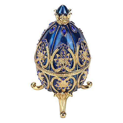 Joyero, artesanías de caja de baratija de metal, con un hermoso patrón, delicado y elegante, adecuado para almacenar perlas, colgantes, cuentas, collares
