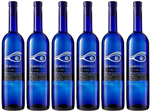 Semsum2 Vino Blanco - 6 botellas x 750 ml - Total: 4500 ml