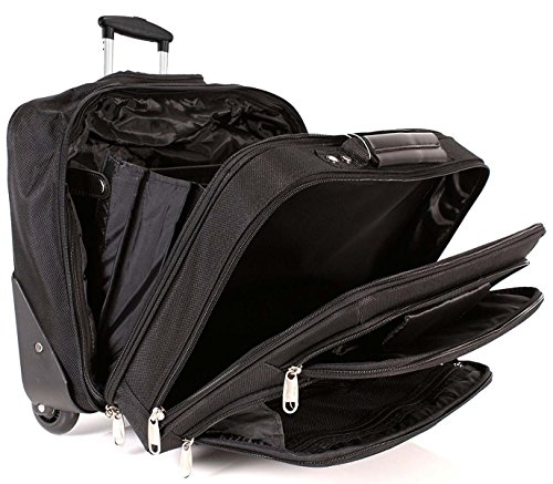6938 Nero Lorenz Trolley Business Laptop Case Borsa da viaggio, dimensioni bagaglio a mano