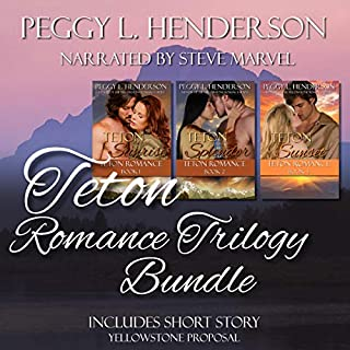 Teton Romance Trilogy Bundle     Includes Yellowstone Proposal (Short Story)              By:                                                                                                                                 Peggy L. Henderson                               Narrated by:                                                                                                                                 Steve Marvel                      Length: 27 hrs and 52 mins     130 ratings     Overall 4.5