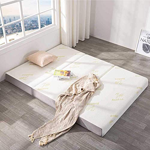 Inofia Single Folding Mattress, 15cm Thick Foldable Mattress with Comfort Memory Foam, Pressure Relief & Supportive, 100-Night Trial, 190cm X 90cm X 15cm