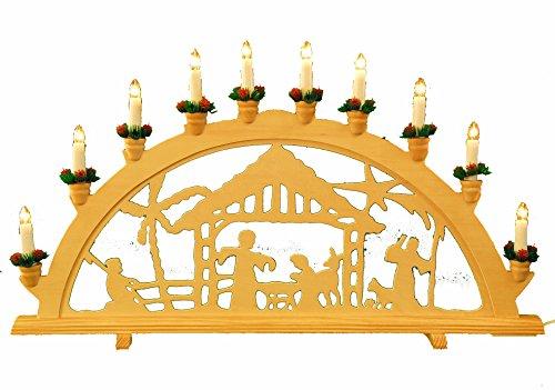 yanka-style Arco Luminoso XL Bethlehem, 10 luci, 70 cm di Larghezza, Decorazione Natalizia (10729)
