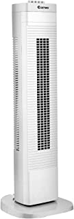 COSTWAY Tower Fan, 30-Inch Quiet Portable Oscillating Fan, 3 Speed Control, Compact and Space Saving, Oscillating Tower Fan for Bedrooms, Living Rooms, Kitchen, Offices, White