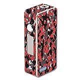 Decal Sticker Skin WRAP Red & Black Urban Camo Custom for Sigelei 75W