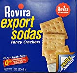 Rovira Export Sodas Fancy Crackers 8 Oz (Pack of 4)
