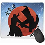 Gaming Mouse Pad Aikido Rectángulo Alfombrilla de Goma Antideslizante 25X30Cm