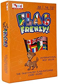 CocoMoco Flag Frenzy- Flags of The World Card Flash Game for Kids with World Map- Geography Educational Toy- Geography Gif...