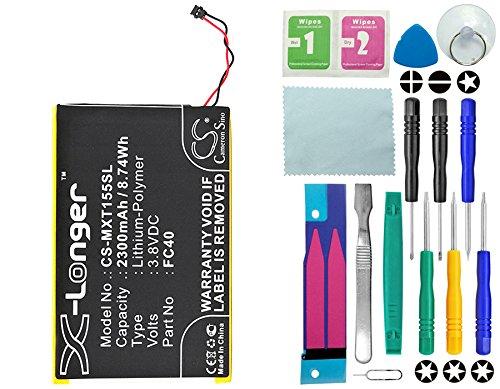 CS Akku, 2300mAh Li-Polymer passend für Motorola Moto G 3rd gen, Moto G3, Moto G3 Dual SIM, Moto G 2015, ersetzt Motorola FC40, SNN5965A, FC40-T, mit 14 in 1 Reparatur Werkzeug Set Kit