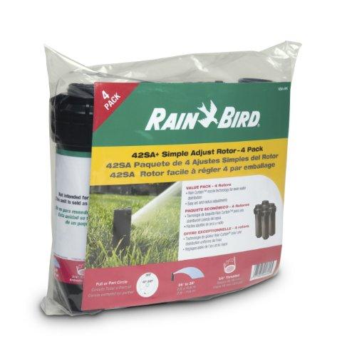 Rain Bird 42SA+/4PK Simple Adjust Gear Drive Rotor, Adjustable 40° - 360° Pattern, 26' - 38' Spray...