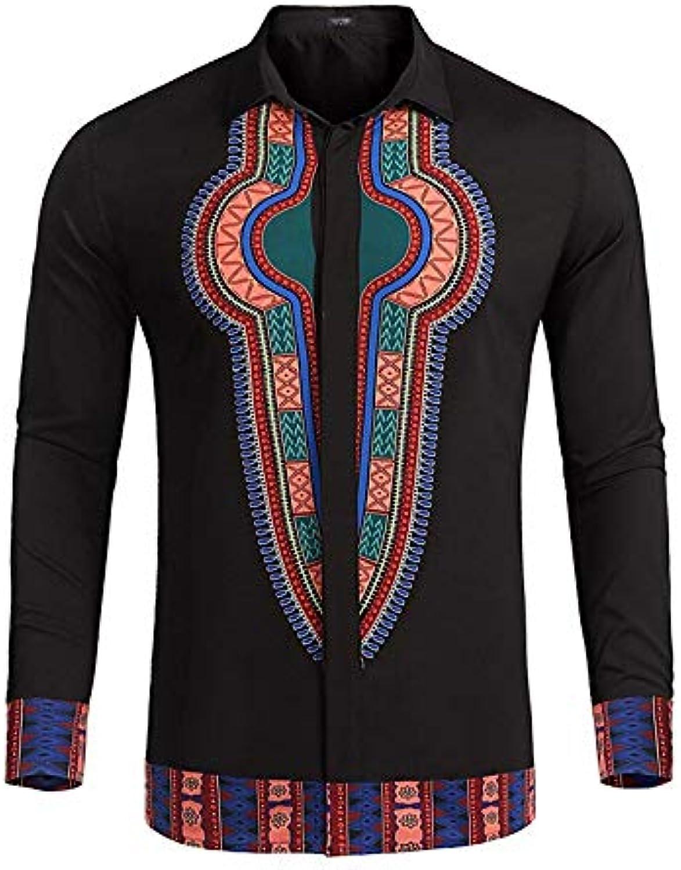 cd7e7c5dad Men's Going Out Work EU US Size Loose Shirt Tribal Shirt Collar ...