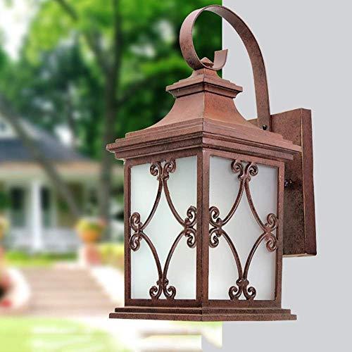 Wandlamp wandlamp glazen spiegel voorlicht buitenverlichting muurlamp inkoppen oxide wandlamp buitenlamp retro loper
