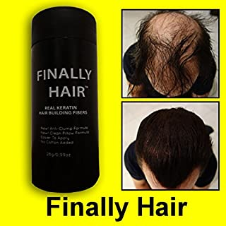 Finally Hair Keratin Hair Building Fibers for Hair Thickening Fiber Hair Loss Concealer. (Light Grey & Pepper)