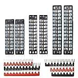 FIXITOK 6 pezzi barriera terminale a vite da 600V 15A morsettiera a doppia fila 8/10/12Position con striscia a barriera 6 pezzi 400V 15V rossa e nera