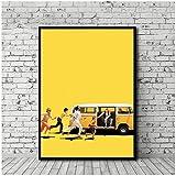 wzgsffs Little Miss Sunshine Poster Film Wandkunst Poster