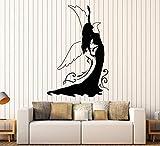 SUPERSTICKI Frau in Abendkleid ca 60cm Wandtattoo Aufkleber Profi Qualität für glatten Flächen Sticker